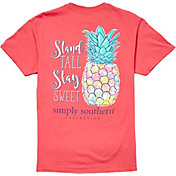 776bc7544 Product Image · Simply Southern Women's Short Sleeve Pineapple T-Shirt