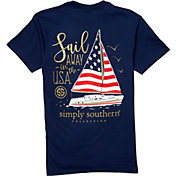 Simply Southern Women's Short Sleeve Sail USA T-Shirt