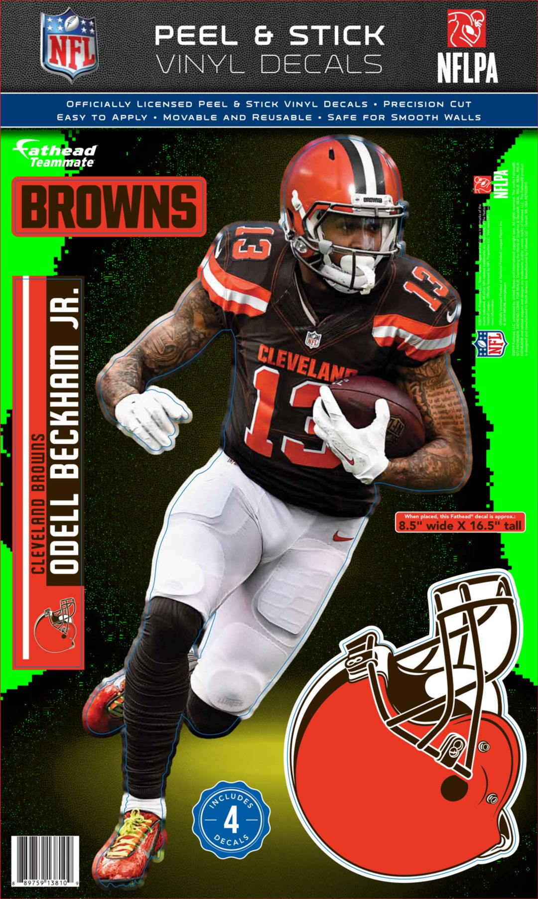 reputable site 4412e 2afc7 Fathead Cleveland Browns Odell Beckham Jr. Teammate Wall Decal