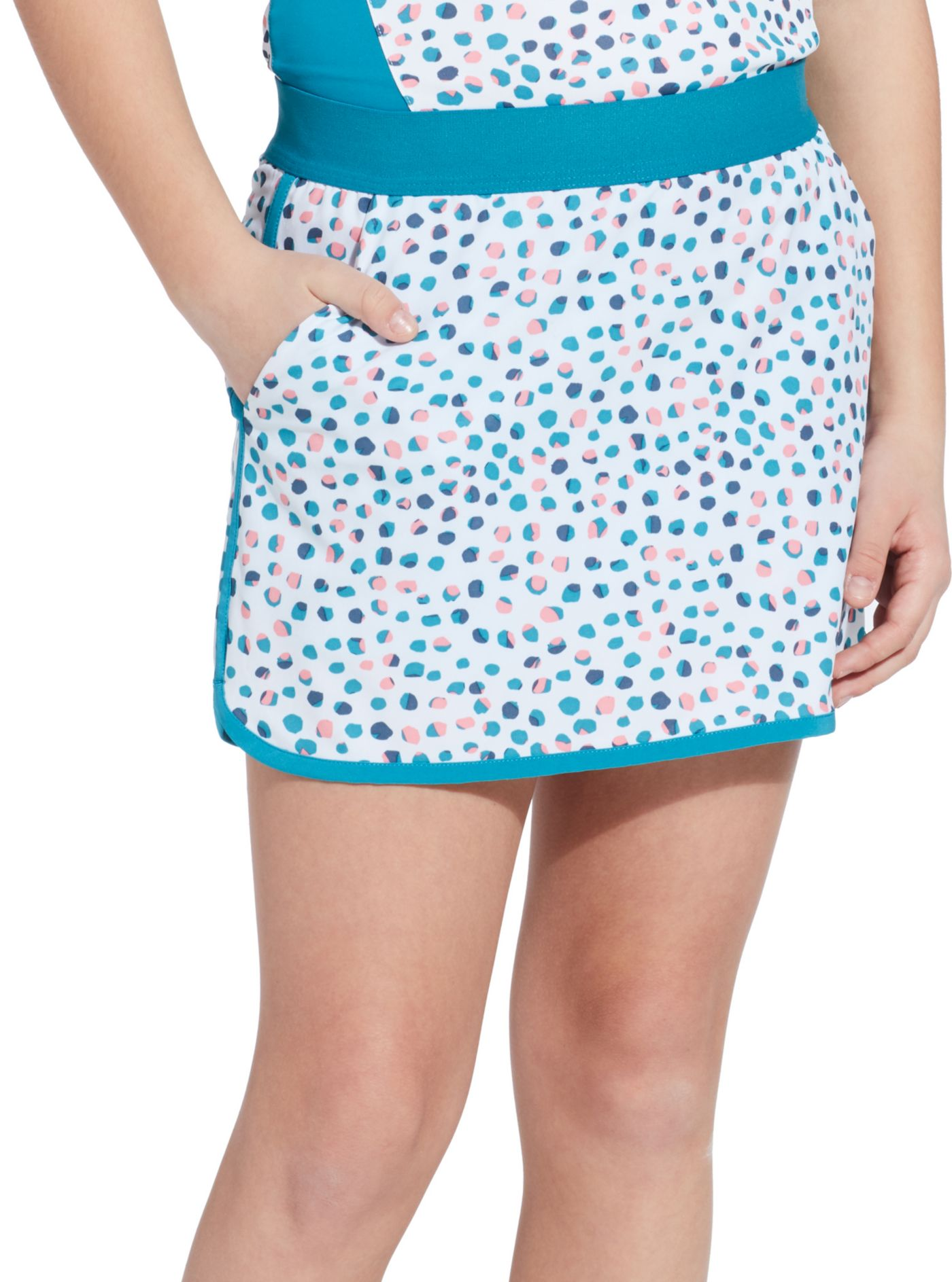Slazenger Girls' Dot Printed Golf Skort