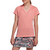 Slazenger Girls' Space Dye Mock Golf Polo