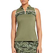 Slazenger Women's Camo Colorblock Sleeveless Golf Polo