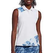 Slazenger Women's Printed Sleeveless Golf Polo