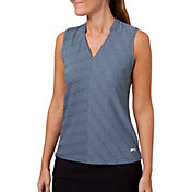 Slazenger Women's Vapor Diagonal Jacquard Sleeveless Golf Polo