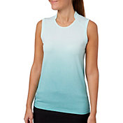 Slazenger Women's Vapor Ombre Body Mapped Sleeveless Golf Polo