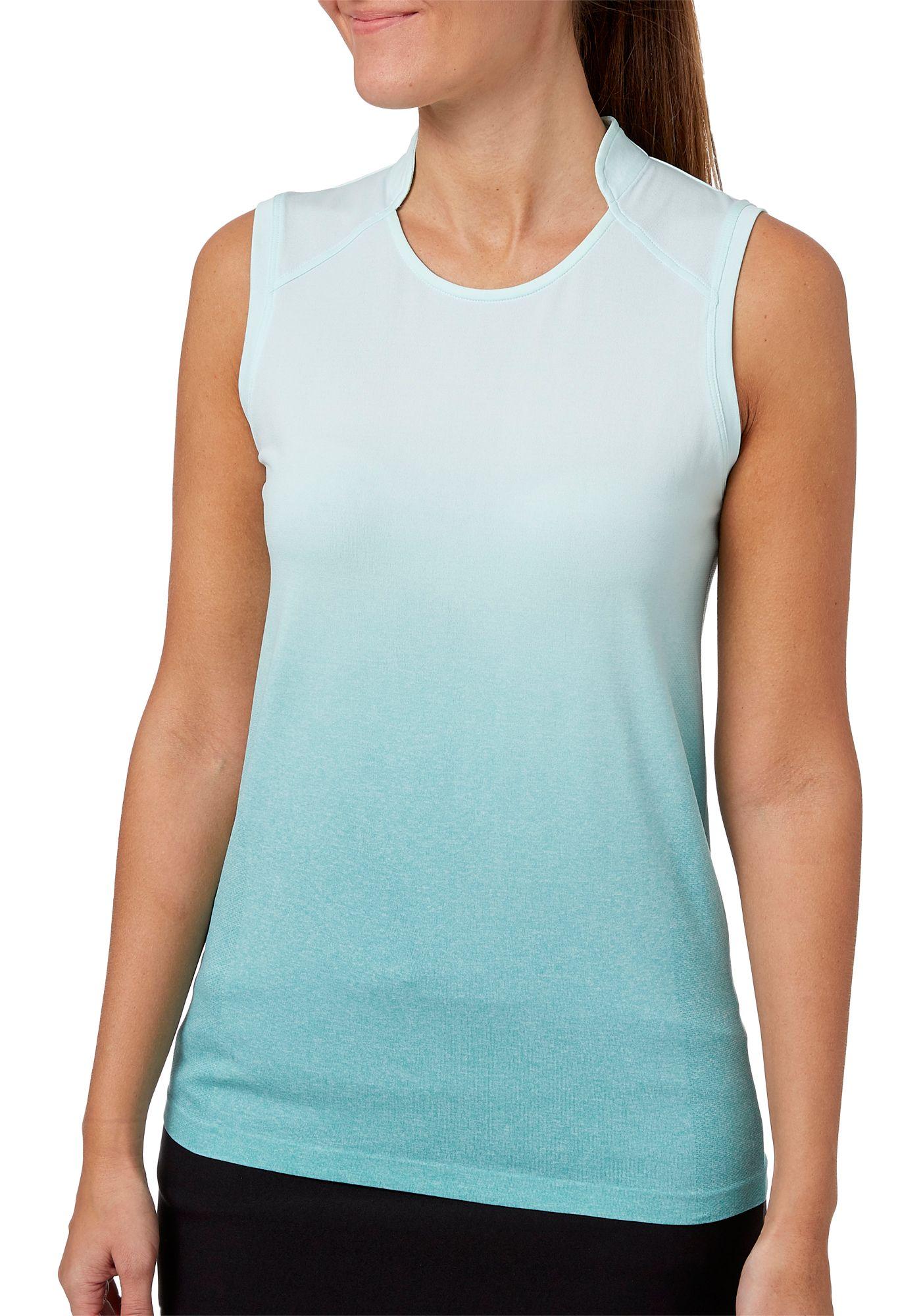 Slazenger Women's Vapor Ombre Body Mapped Sleeveless Golf Polo