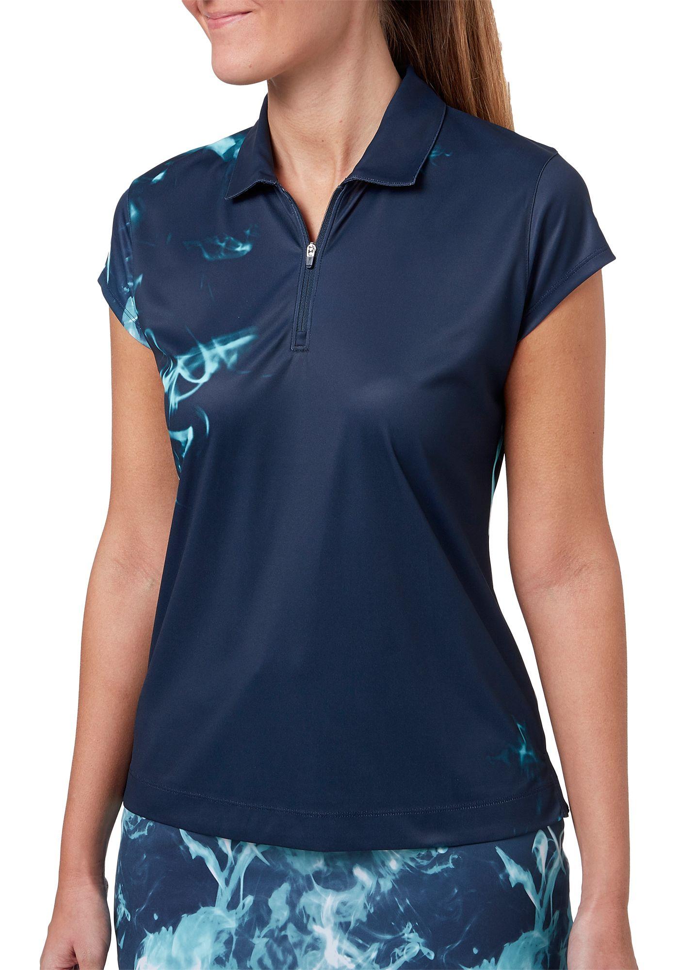 Slazenger Women's Vapor Smoke Printed Golf Polo