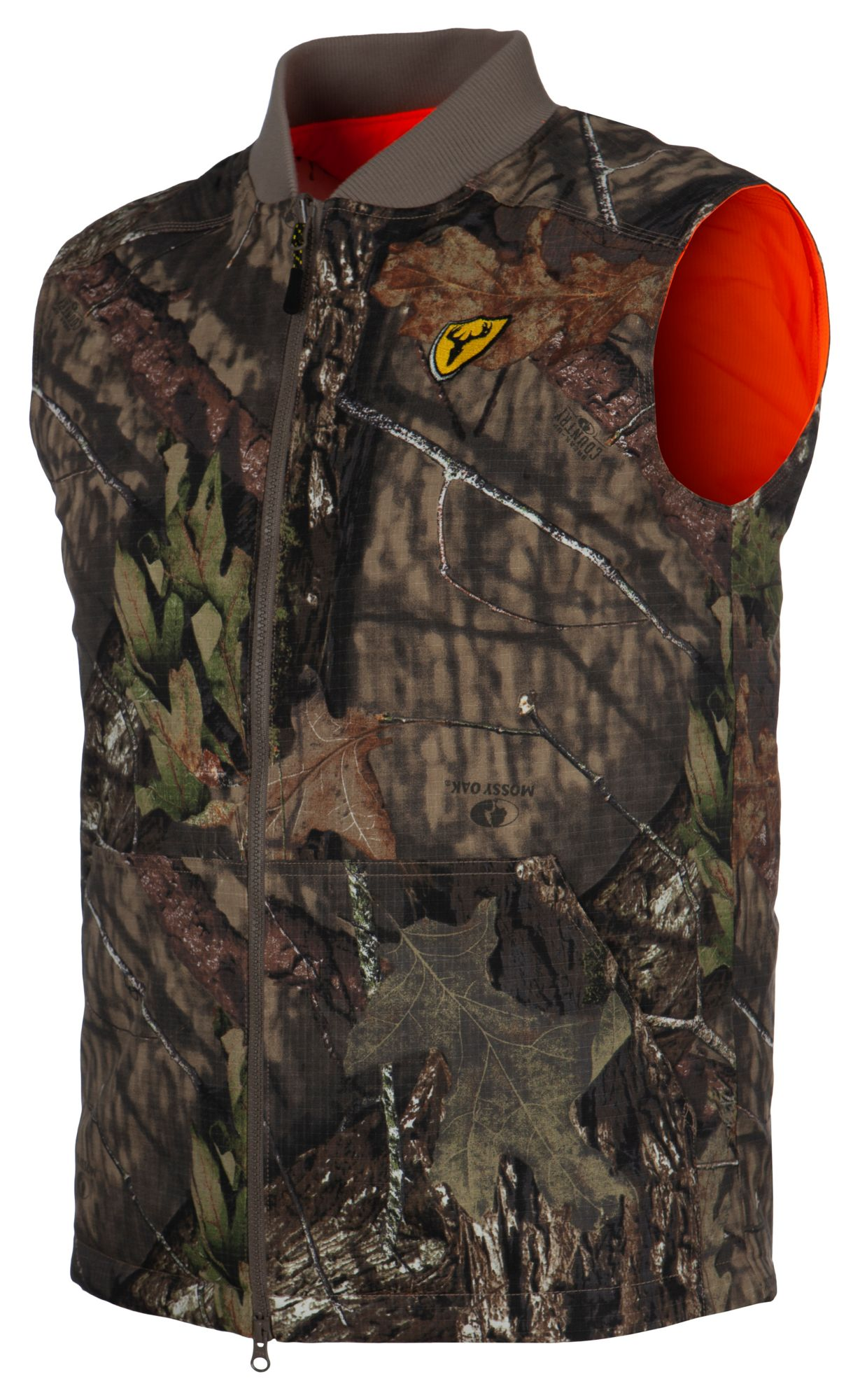 ScentLok Men's Evolve Reversible Vest, Size: Medium, Mossy Oak Break Up Country/Blaze