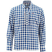 Simms Men's Bugstopper Plaid Long Sleeve Button Down Shirt