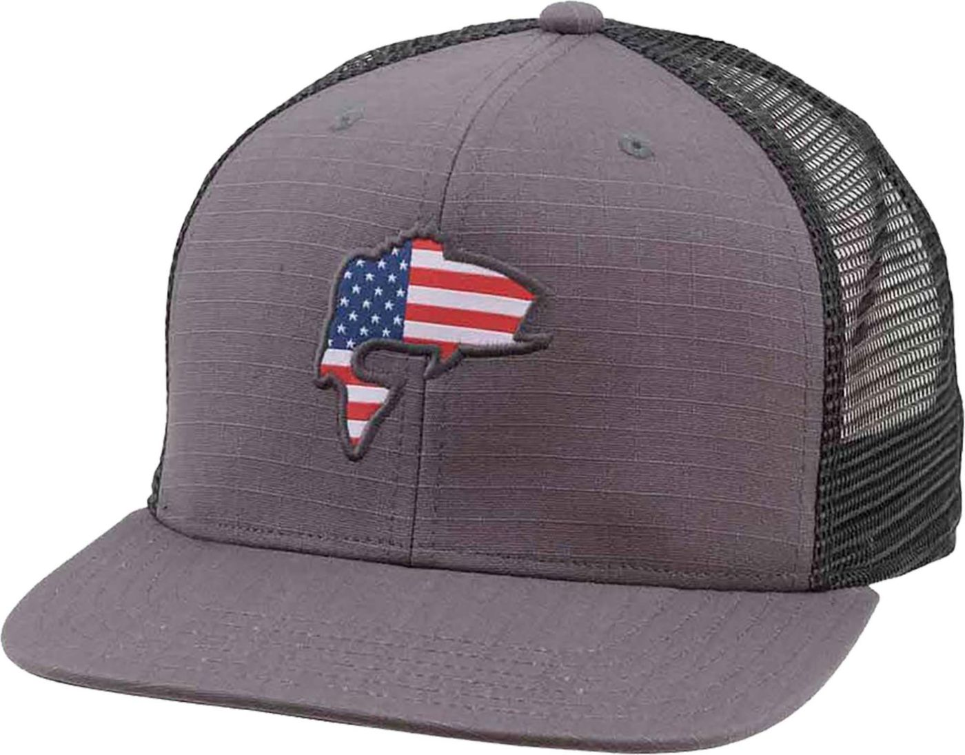 Simms Men's Bass Flag Trucker Hat