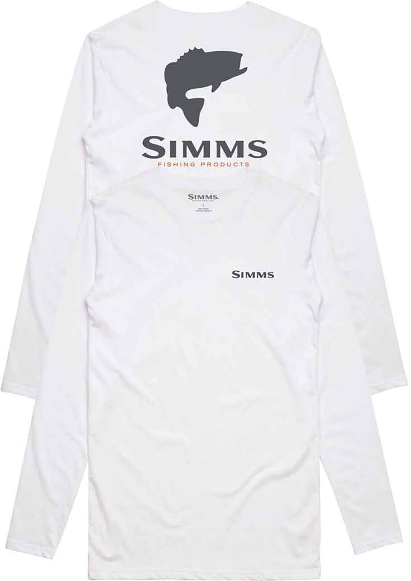 Simm's Men's Bass Logo Long Sleeve Tech Shirt