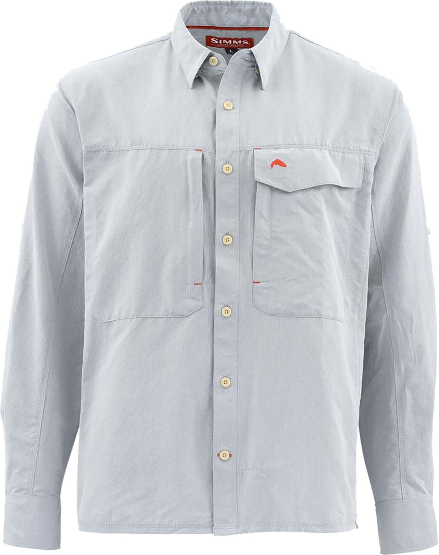 Simms Men's Guide Marl Long Sleeve Button Down Shirt