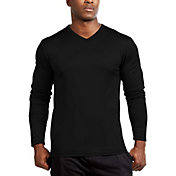 Soffe Men's Long Sleeve V-Neck Tee (Regular and Big & Tall)