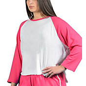 Soffe Junior Plus Size Baseball Crop Tee