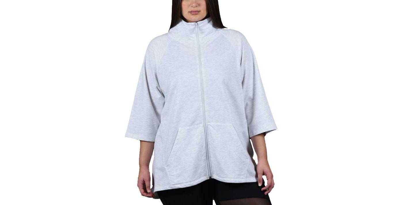 Soffe Juniors' Plus Size Hi Lo Slay Zip Jacket
