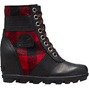 SOREL Women's Lexie Wedge Plaid Casual Boots