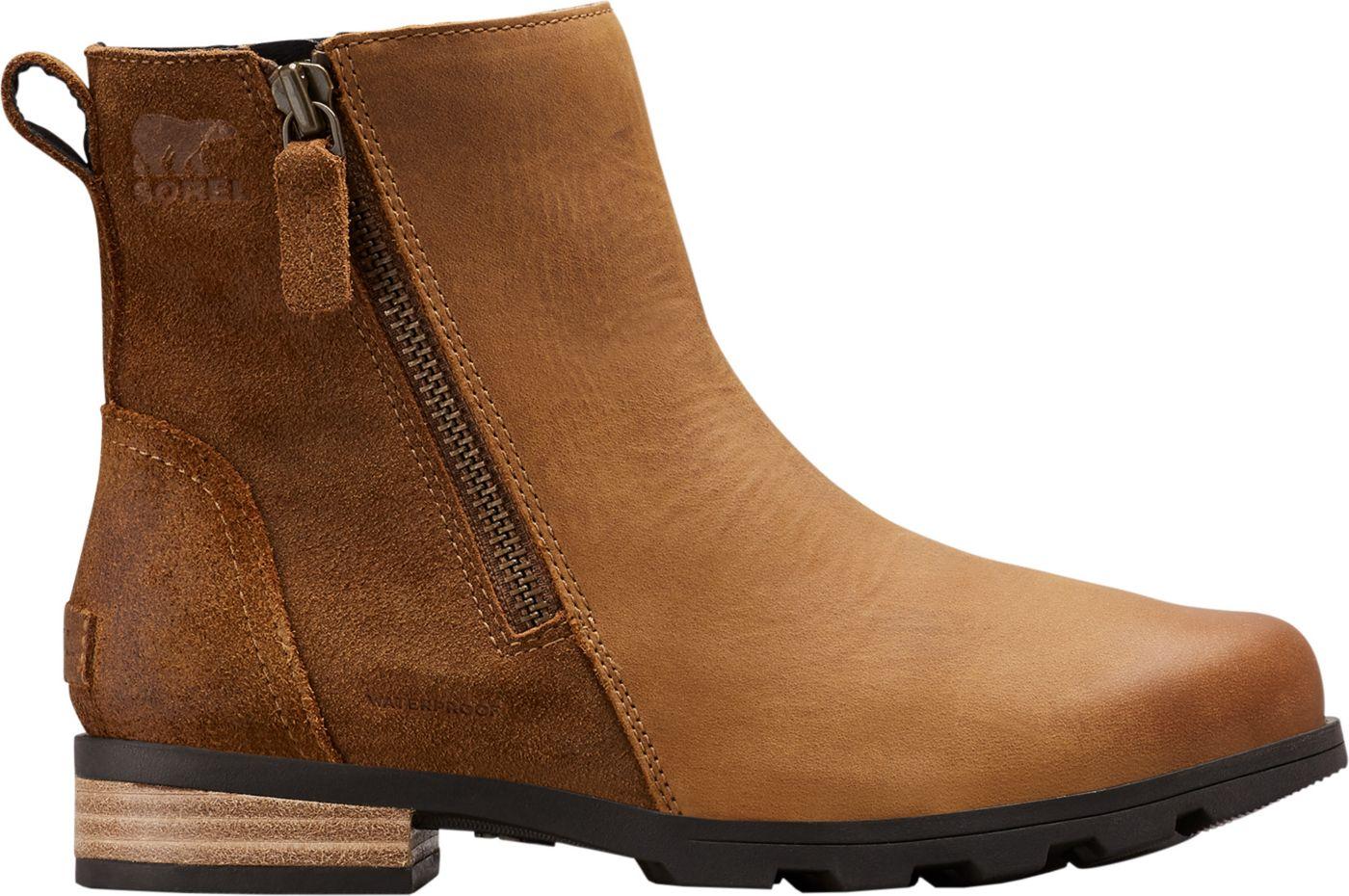 SOREL Women's Emelie Zip Waterproof Casual Boots
