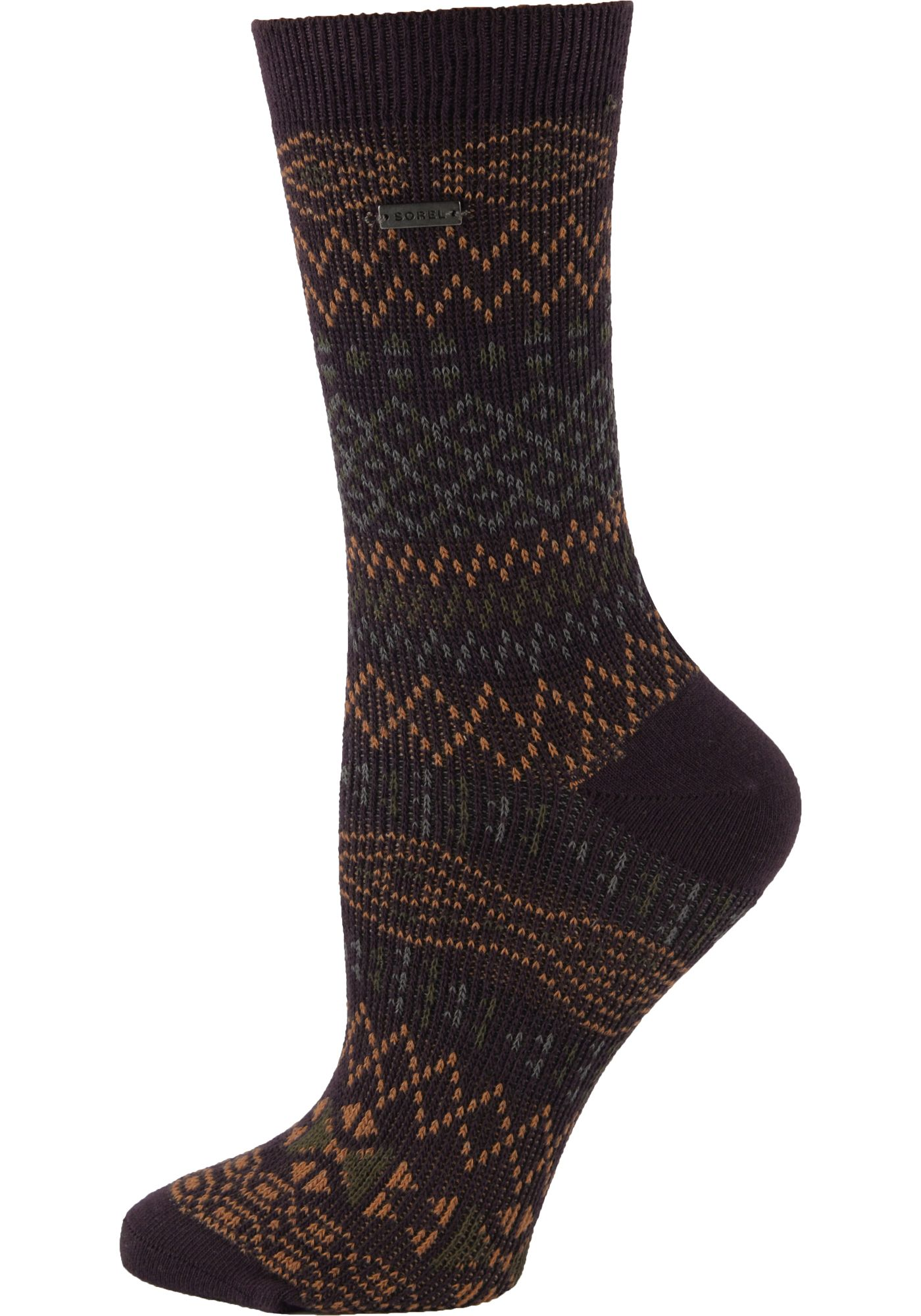 SOREL Women's Cotton Jacquard Pattern Crew Socks