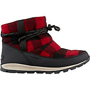 SOREL Women's Whitney Short Plaid 200g Waterproof Winter Boots