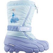 Disney x SOREL Kids' Flurry Frozen 2 Elsa Insulated Waterproof Winter Boots