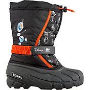 Disney x SOREL Kids' Flurry Frozen 2 Olaf Insulated Waterproof Winter Boots