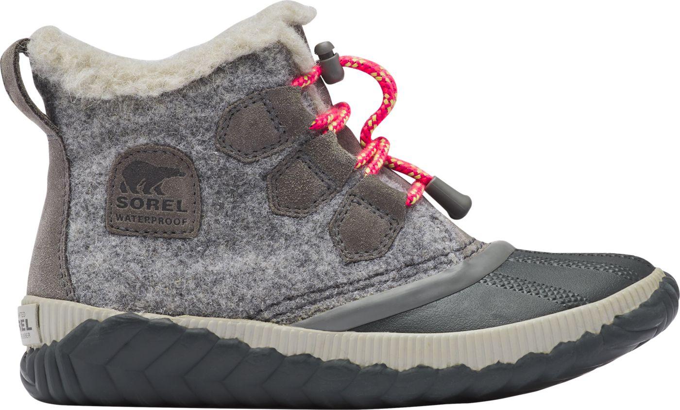 SOREL Kids' Out N About Plus Waterproof Winter Boots