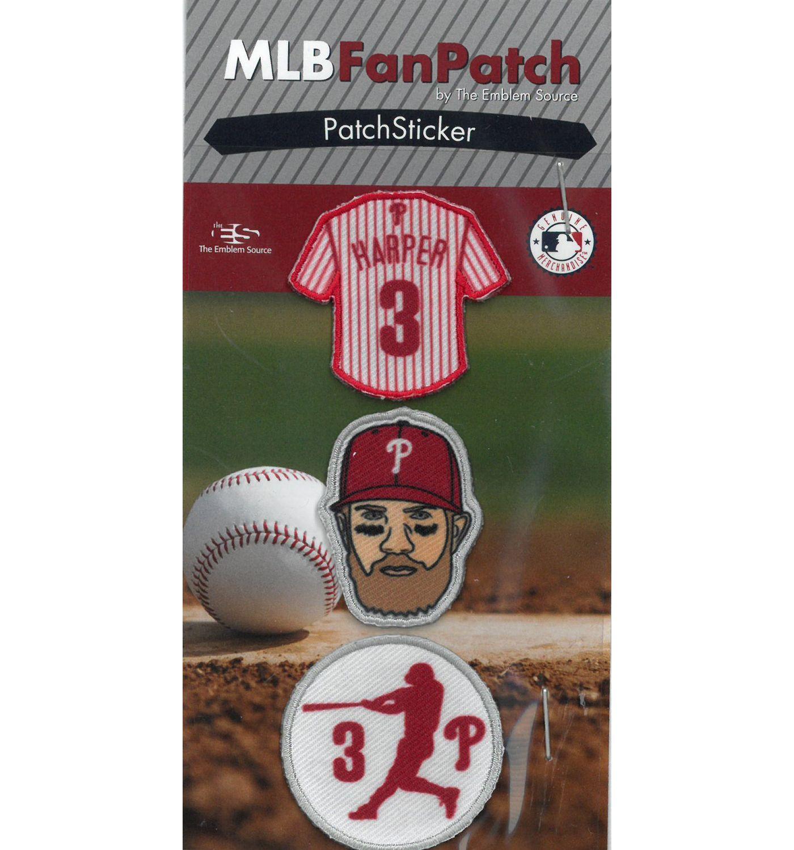 The Emblem Source Philadelphia Phillies Bryce Harper Patch Sticker Set
