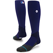 Stance MLB League Purple Diamond Pro Crew Socks
