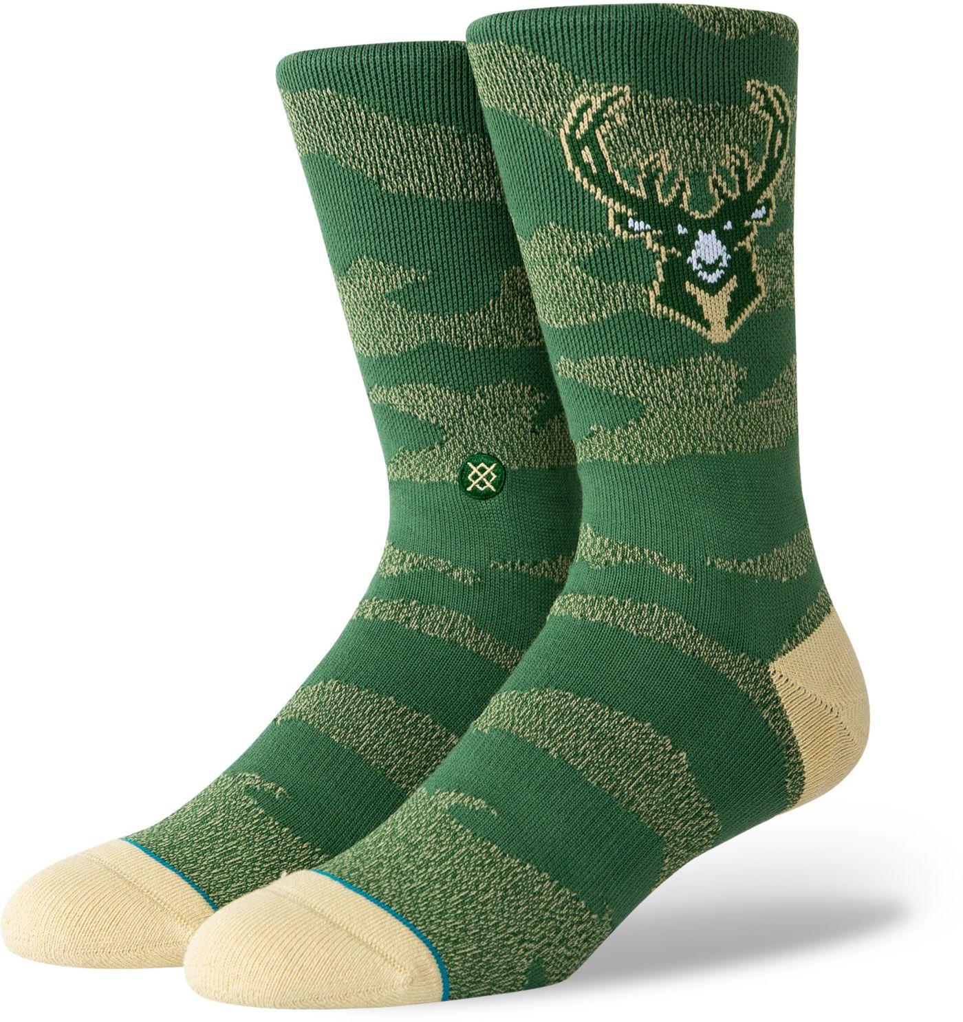 Stance Milwaukee Bucks Camo Jersey Crew Socks