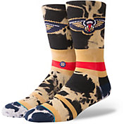 Stance Men's New Orleans Pelicans Acid Wash Jersey Crew Socks