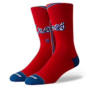 Stance Atlanta Braves Red Jersey Crew Socks