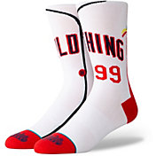 Stance Cleveland Indians White Jersey Crew Socks