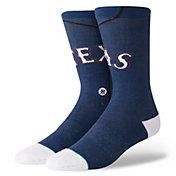 Stance Texas Rangers Blue Jersey Crew Socks
