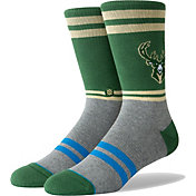 Stance Men's Milwaukee Bucks City Gym Crew Socks