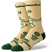 Stance Men's Milwaukee Bucks Giannis Antetokounmpo Stencil Socks