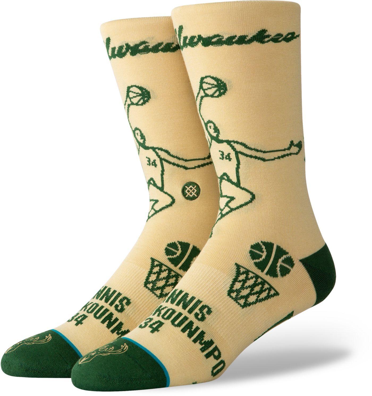 Stance Men's Milwaukee Bucks Giannis Antetokounmpo Stencil Socks
