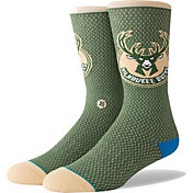 Stance Men's Milwaukee Bucks Jersey Crew Socks