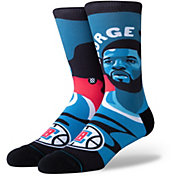 Stance Men's Los Angeles Clippers Paul George Mosaic Crew Socks