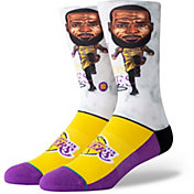 Stance Los Angeles Lakers LeBron James Youth Big Head Socks