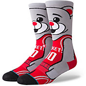 Stance Men's Houston Rockets Clutch the Rocket Bear Crew Socks