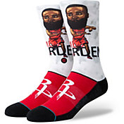 Stance Men's Houston Rockets James Harden Big Head Socks