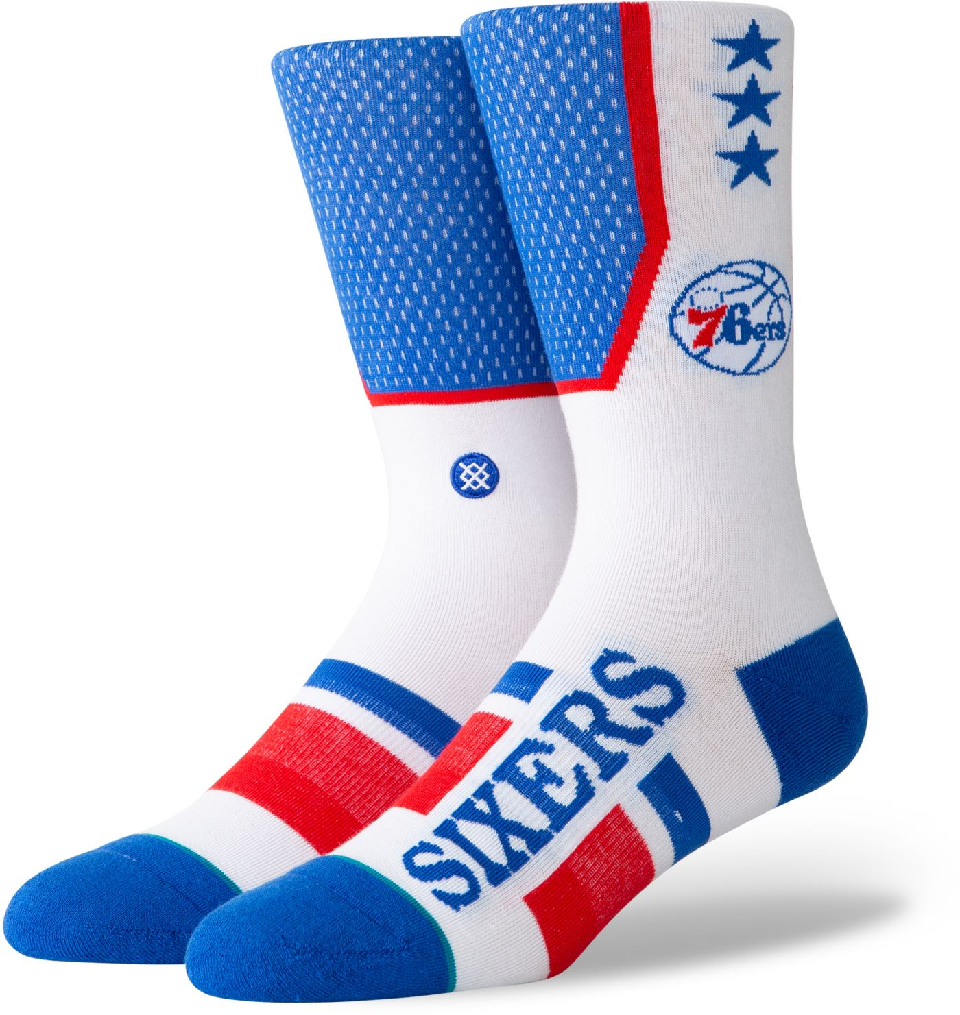 Stance Philadelphia 76ers Men's Shortcut Crew Socks