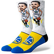 Stance Men's Golden State Warriors Stephen Curry Big Head Socks