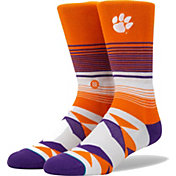 Stance Men's Clemson Tigers Orange Striped Sock