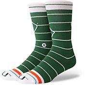 Stance Miami Hurricanes Logo Crew Socks