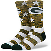 Stance Men's Green Bay Packers Banner Socks