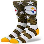 Stance Men's Pittsburgh Steelers Banner Socks