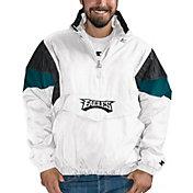 Starter Men's Philadelphia Eagles Breakaway White Quarter-Zip Jacket