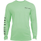 Salt Life Men's Calm Waters Badge Performance Long Sleeve Shirt