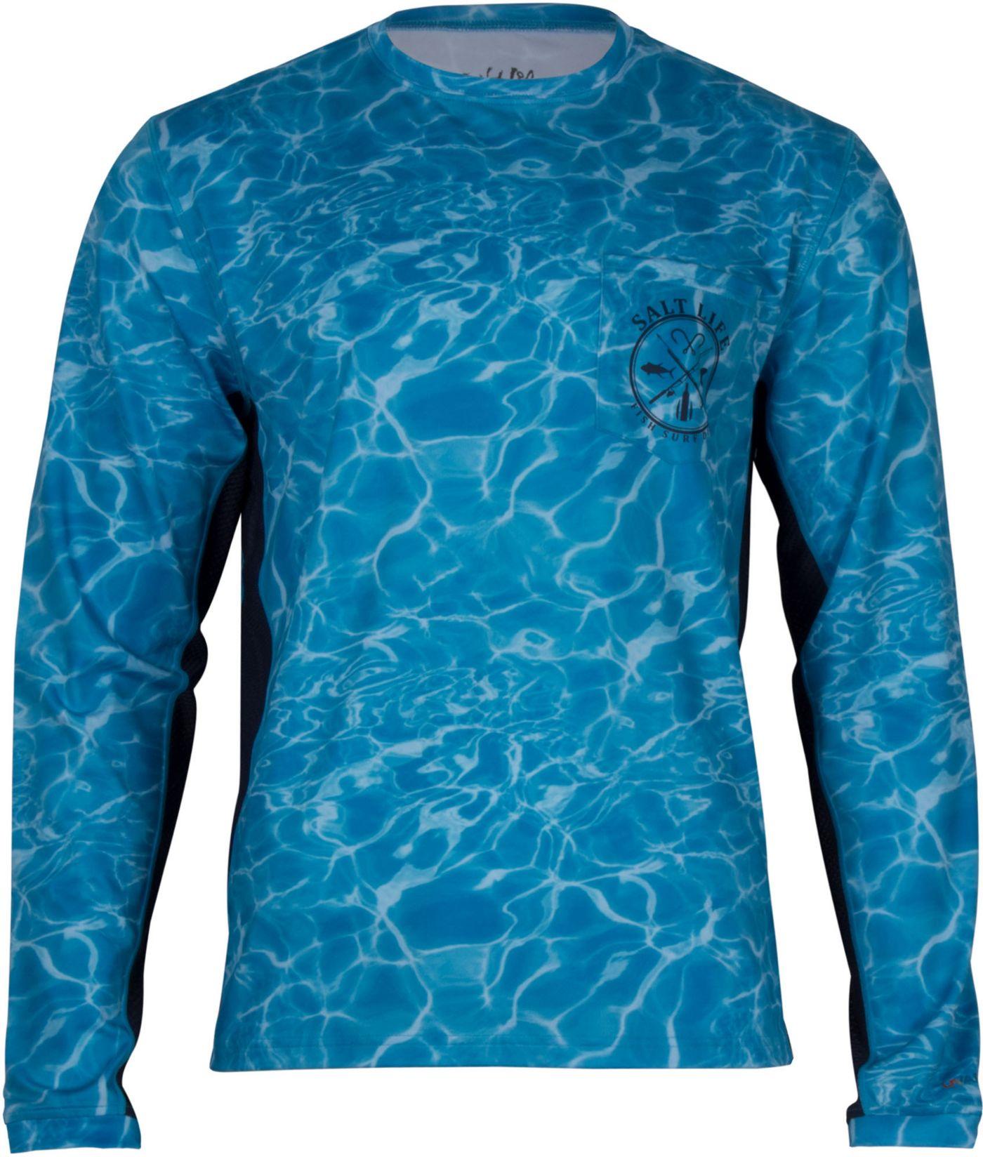 Salt Life Men's Calm Waters Performance Long Sleeve Shirt